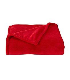LivingQuarters Crimson Micro Cozy Throw