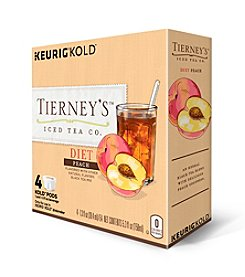 Keurig® Tierney's™ Iced Tea Co. Diet Peach Iced Tea 4-Pk. KOLD™ Pods