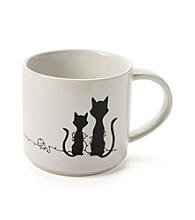 John Bartlett Pet Holiday Cat Lights Mug