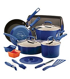 Rachael Ray® 16-Pc. Blue Kitchen in a Box Nonstick Cookware Set