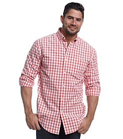 John Bartlett Consensus Men's Long Sleeve Washed Gingham Button Down Shirt