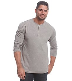 John Bartlett Consensus Men's Long Sleeve Marled Siro Henley Tee
