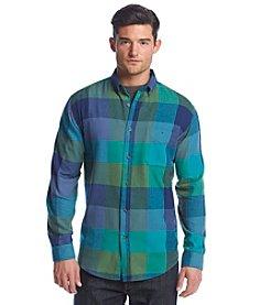 John Bartlett Consensus Men's Long Sleeve Flannel Plaid Button Down