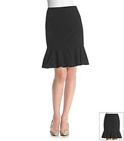 Nine West® Bi-Stretch Flounce Skirt