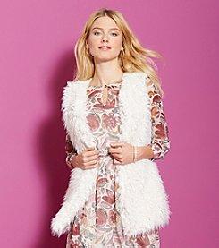 Vince Camuto® Oversized Shaggy Faux Fur Vest