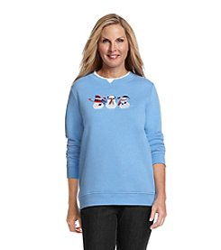 Breckenridge® Embellished Fleece Sweatshirt