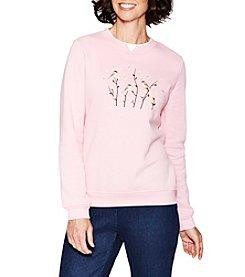 Breckenridge® Embellished Fleece Sweatshirt