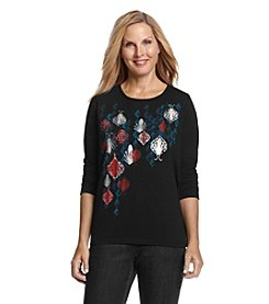 Breckenridge&Reg; Long Sleeve Embellished Tee
