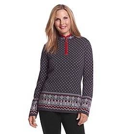 Breckenridge® Long Sleeve Fair Isle Pull Over Sweater