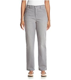 Gloria Vanderbilt® Petites' Amanda Eyelet Print Denim Jeans