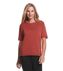 Alfred Dunner® El Dorado Short Sleeve Sweater