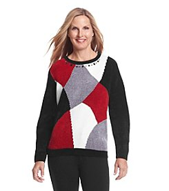 Alfred Dunner® Madrid Chenille Colorblock Sweater