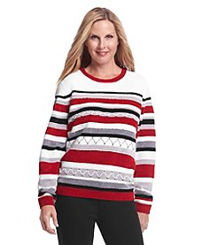 Alfred Dunner® Madrid Stripe Chenille Sweater