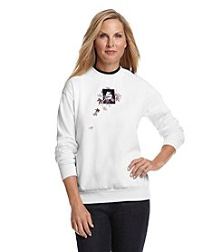 Morning Sun® Maple And Chickadee Fleece Sweatshirt