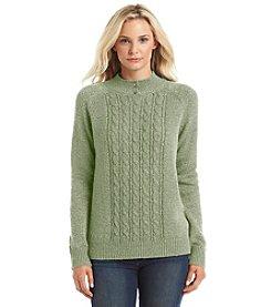 Carolyn Taylor® Mock Neck Pullover Sweater