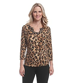 Ruby Rd.® Leopard Print Knit Top
