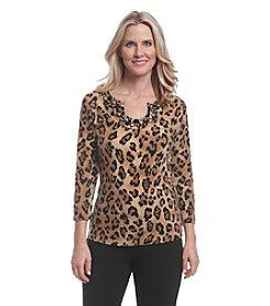 Ruby Rd.® Leopard Print Knit Top
