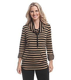 Ruby Rd.®Stripe Cowl Neck Tunic