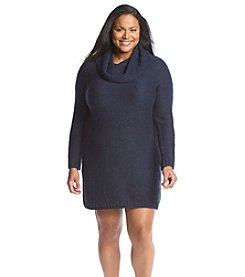 Relativity® Plus Size Cozy Cowlneck Dress
