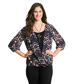 AGB® Chevron Faux Wrap With Tank