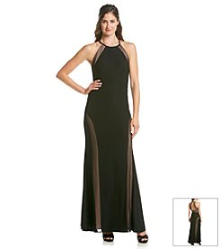 NW Collections Halter Illusion Top Gown