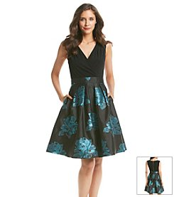 S.L. Fashions Jacquard Floral Dress