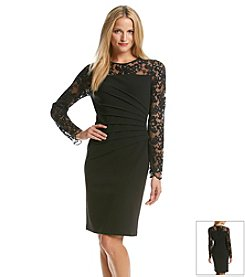 Ivanka Trump® Lace Scuba Dress