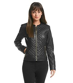 Cole Haan® Collarless Quilted Coat