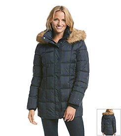 Tommy Hilfiger® Plaid Puffer Coat