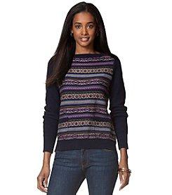 Chaps® Fair Isle Bateau-Neck Sweater