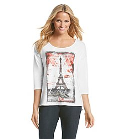 Relativity® Paris Eiffel Tower Graphic Tee