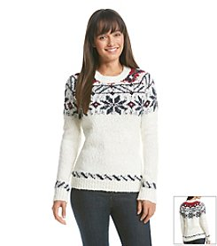 Le Tigre Neck Placed Snowflake Sweater
