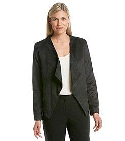Gloria Vanderbilt® Arabella Faux Suede Drape Jacket