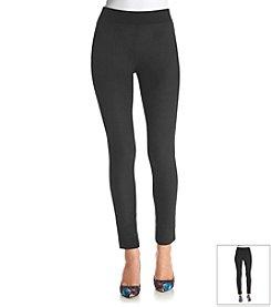 DKNYC® Faux Suede-Front Pants