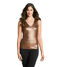Anne Klein® Foil Sweater Tank