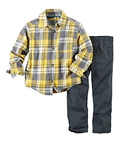Carter's® Baby Boys' 3-24M Plaid Top and Pants Set