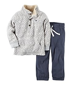 Carter's® Baby Boys Geo Print Pullover and Pants Set