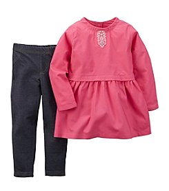 Carter's® Baby Girls' 3-24M Floral Embroider Top with Pants Set