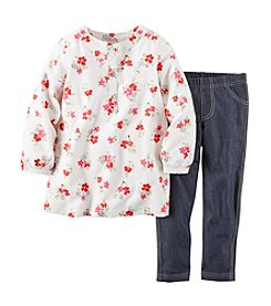Carter's® Baby Girls' 2-Piece Poplin Top & Jeggings Set