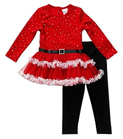 Sweet Heart Rose® Baby Girls' Santa Suit Leggings With Dress