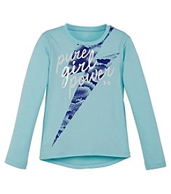 Under Armour® Baby Girls' Long Sleeve Pure Girl Power Tee