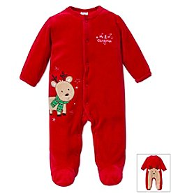 Little Me® Baby Boys' 3-9M Scarved Reindeer Christmas Footie