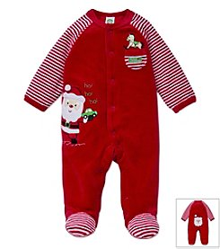 Little Me® Baby Boys' 3-9M Ho Ho Ho Santa Footie