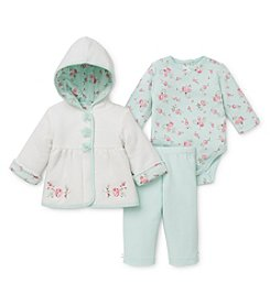 Little Me® Baby Girls' 3-12M Rose Quilt Jacket Set