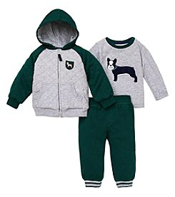 Little Me Baby Boys 12-24M Frenchie Coat Of Arms Jacket Set
