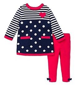 Little Me® Baby Girls' 12-24M Patterned Sweater Dress Set