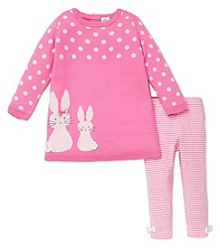Little Me® Baby Girls' 12-24M Bunny Sweater Dress Set