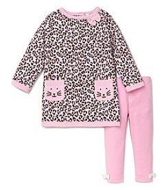Little Me® Baby Girls' 12-24M Leopard Kitty Sweater Dress Set