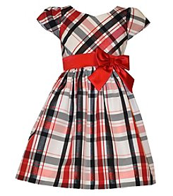 Bonnie Jean® Girls' 4-6X Plaid Capsleeve Dress