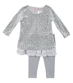 Rare Editions® Girls' 2T-4T Sequin Styled Ruffle Dress Set